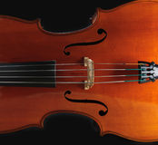 Cello. A cello isolated on a black background Royalty Free Stock Images