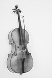 The Cello. A cello in monotone, projecting an old-world feel Stock Photo
