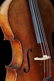 Cello. A 3/4 view of a full size cello Stock Photo