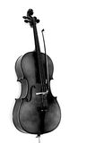 The Cello. A cello in white background and grayscale tones stock images