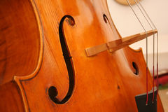 Cello 3. Close up of a classical wooden cello royalty free stock photo
