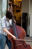 The Cello. Is a stringed instrument and a member of the violin family. A cello player is called a cellist Stock Image