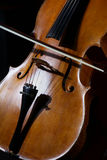 Cello on black Royalty Free Stock Images