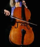 Cello on black Stock Photo