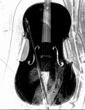 Cello in black and white Royalty Free Stock Photos