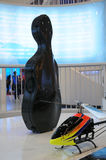 Cello case and helicopter Stock Image