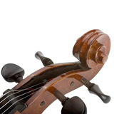 Cello close up. Close up of a cello - string classical instrument - isolated on white Stock Photos