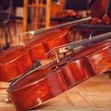 Cello closeup Stock Images