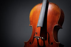 Cello on dark background Royalty Free Stock Photography