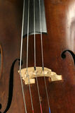 Cello Detail. With the f holes and bridge showing Stock Image