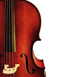 Cello Detail over White Stock Photos