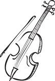 Cello Doodle Royalty Free Stock Photos
