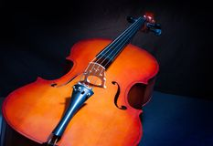 Cello in full length and vertical position Royalty Free Stock Images