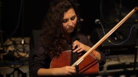 Cello girl woman playing cello close-up. Kyiv. Ukraine stock video footage