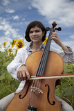 Cello Girl Stock Photos
