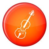 Cello icon, flat style Royalty Free Stock Photography