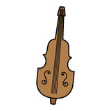 Cello instrument isolated icon Royalty Free Stock Photo