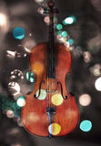 Cello with lights Stock Image