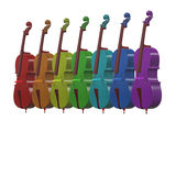 Cello musical instrument 3d illustration Royalty Free Stock Photography