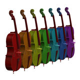 Cello musical instrument 3d illustration Stock Photo