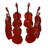 Cello musical instrument 3d illustration Stock Image
