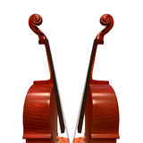 Cello musical instrument 3d illustration. Cello string bow musical instrument 3d illustration Royalty Free Stock Image