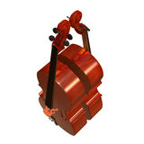 Cello musical instrument 3d illustration. Cello string bow musical instrument 3d illustration Stock Photos