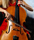 Cello musician Royalty Free Stock Photography
