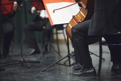Cello musician Stock Photography