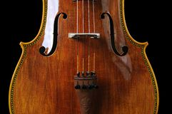 Cello op een zwarte achtergrond royalty-vrije stock foto