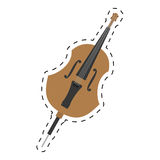 cello orchestra classic music dotted line Stock Photography