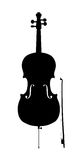 Cello outline silhouette Stock Images