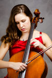 Cello player Stock Images