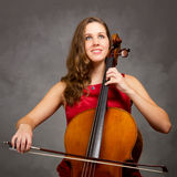 Cello player Royalty Free Stock Image