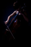 Cello player (cellist) stock photography