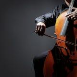 Cello player or cellist performing Stock Photos