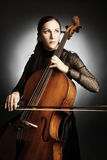Cello player Cellist woman Royalty Free Stock Photo