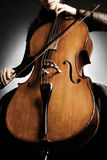 Cello player details Royalty Free Stock Photos