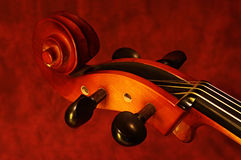 Cello Scroll Stock Image