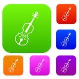 Cello set collection Royalty Free Stock Photos