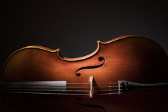 Cello silhouette Royalty Free Stock Photos
