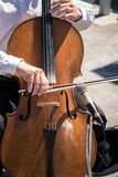 Cello Street musician Royalty Free Stock Photos