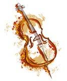 Cello in waterverfstijl stock illustratie