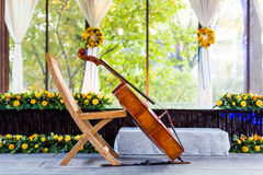 Cello at wedding Royalty Free Stock Photos