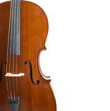 Cello on white with copyspace Royalty Free Stock Images