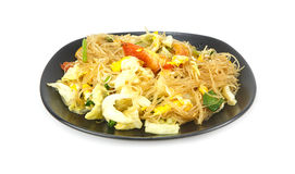 Cellophane noodles stir fried with vegetable Royalty Free Stock Photo