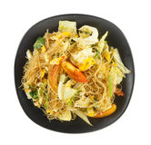 Cellophane noodles stir fried with vegetable Royalty Free Stock Images