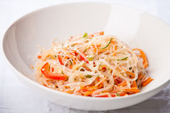 Cellophane noodles and vegetables Stock Photo