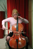 Celloplayer femenino 2 Fotos de archivo libres de regalías