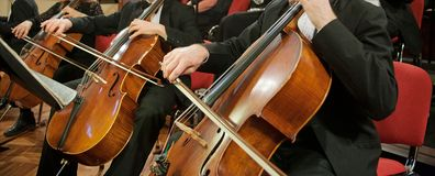 Cellos Stock Images